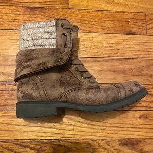 Roxy Combat Boots - Brown
